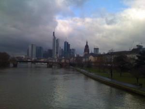 Frankfurt Skyline aus Osten